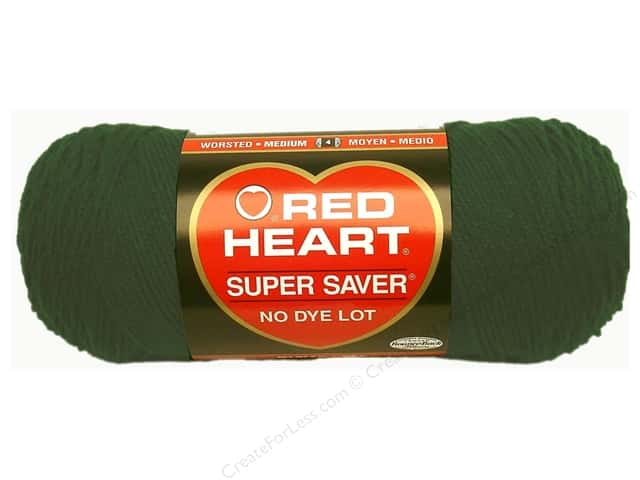 Red Heart Super Saver Yarn #0389 Hunter Green 364 yd.