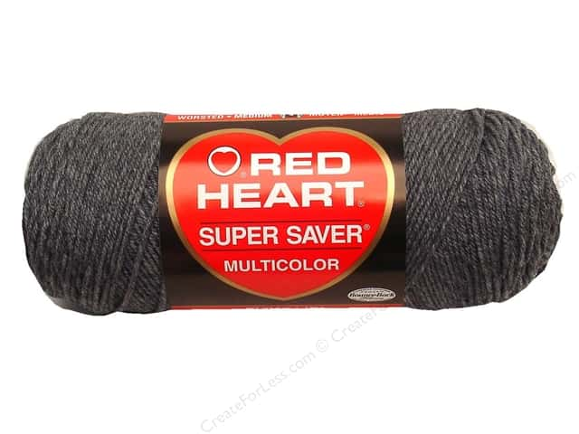 Red Heart Super Saver Yarn #0400 Grey Heather 364 yd.