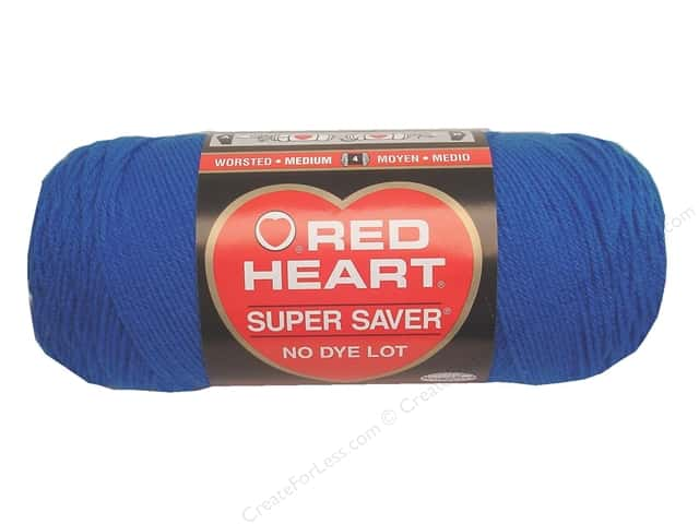 Red Heart Super Saver Yarn 364 yd. #0886 Blue
