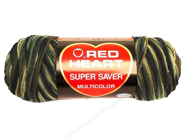 Red Heart Super Saver Yarn #0971 Camouflage 244 yd.