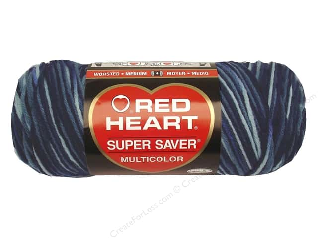 Red Heart Super Saver Yarn 236 yd. #0984 Shaded Dusk