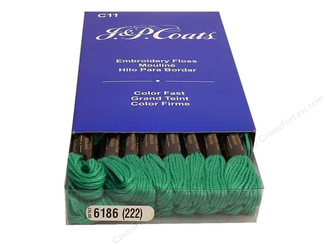 J & P Coats Six-Strand Embroidery Floss #6186 Aquamarine Dark (24 skeins)