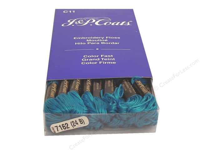 J & P Coats Six-Strand Embroidery Floss #7162 Wedgwood Medium (24 skeins)