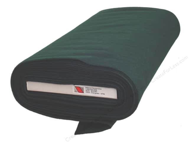 National Nonwovens 20% Wool Felt 36 in. x 10 yd. Evergreen (10 yards)