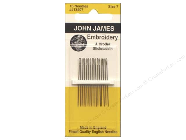 John James Embroidery Needles Size 7 16 pc.
