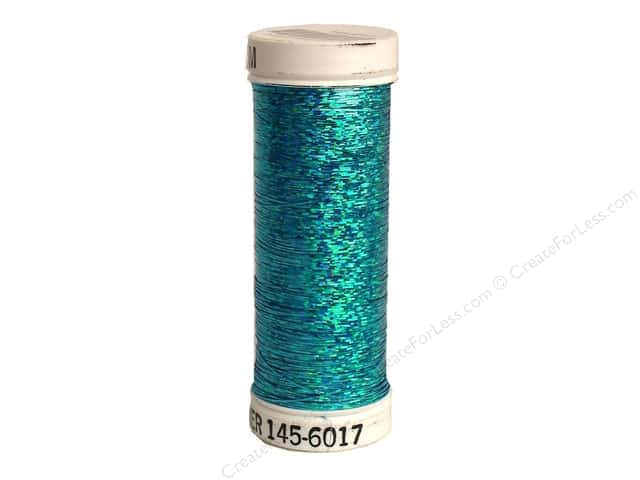 Sulky Holoshimmer Metallic Thread 250 yd. #6017 Peacock Blue