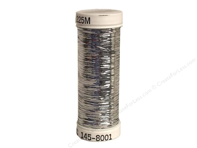 Sulky Silver Metallic Thread 250 yd. #8001 Silver