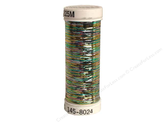 Sulky Silver Metallic Thread 250 yd. #8024 Multi-Color Pastel