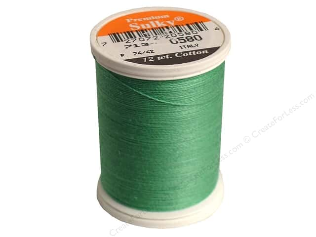 Sulky Cotton Thread 12 wt. 330 yd. #0580 Mint Julep