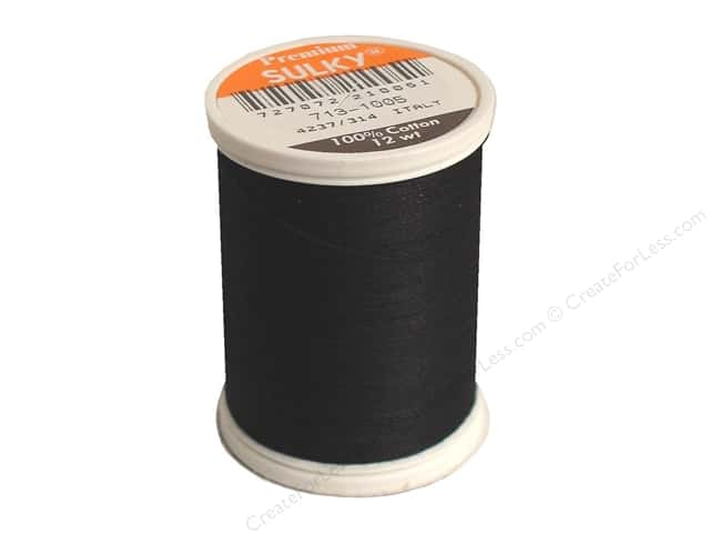Sulky Cotton Thread 12 wt. 330 yd. #1005 Black