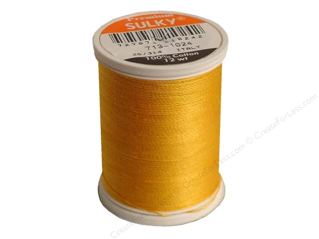 Sulky Cotton Thread 12 wt. 330 yd. #1024 Goldenrod