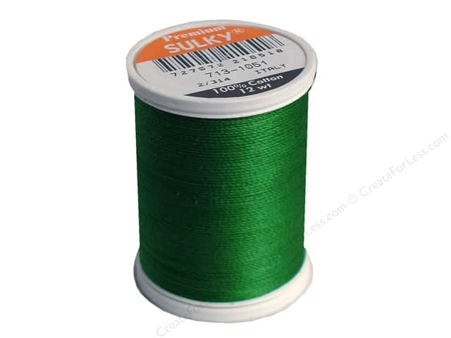 Sulky Cotton Thread 12 wt. 330 yd. #1051 Christmas Green