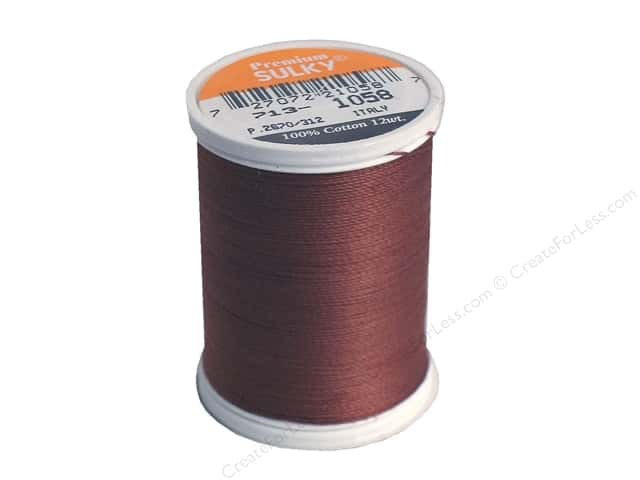 Sulky Cotton Thread 12 wt. 330 yd. #1058 Tawny Brown