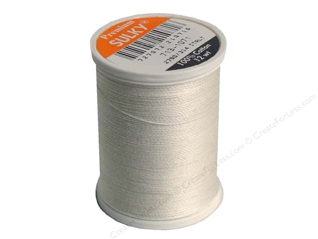 Sulky Cotton Thread 12 wt. 330 yd. #1071 Off White