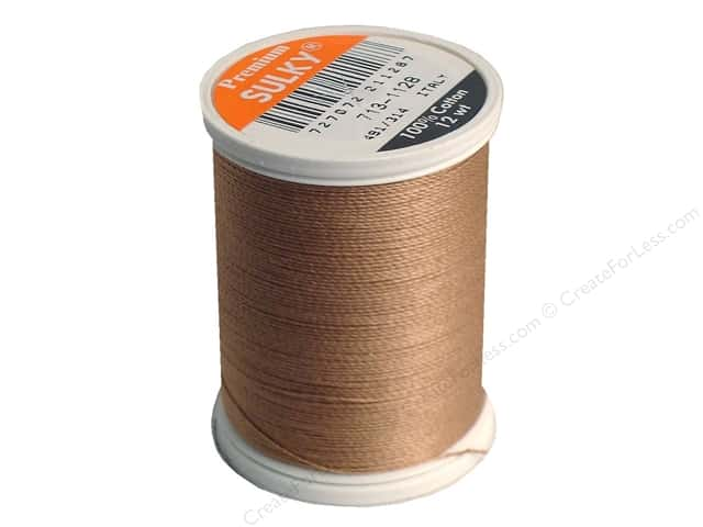 Sulky Cotton Thread 12 wt. 330 yd. #1128 Dark Ecru