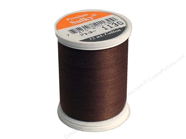 Sulky Cotton Thread 12 wt. 330 yd. #1130 Dark Brown