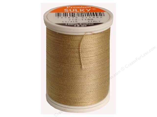 Sulky Cotton Thread 12 wt. 330 yd. #1149 Deep Ecru