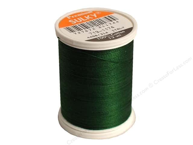 Sulky Cotton Thread 12 wt. 330 yd. #1174 Dark Pine Green