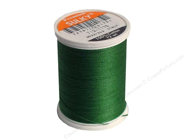 Sulky Cotton Thread 12 wt. 330 yd. #1175 Dark Avocado