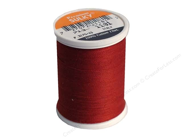 Sulky Cotton Thread 12 wt. 330 yd. #1181 Rust