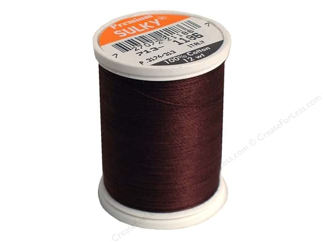 Sulky Cotton Thread 12 wt. 330 yd. #1186 Sable Brown