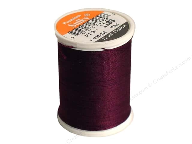 Sulky Cotton Thread 12 wt. 330 yd. #1189 Dark Chestnut
