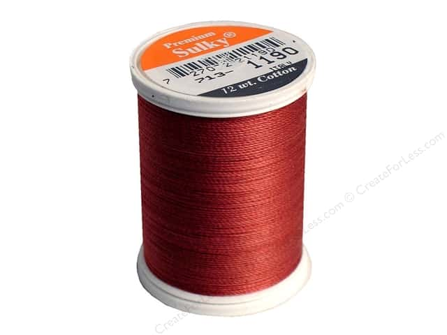 Sulky Cotton Thread 12 wt. 330 yd. #1190 Medium Burgundy