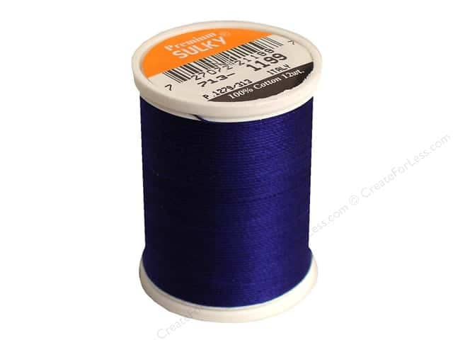 Sulky Cotton Thread 12 wt. 330 yd. #1199 Admiral Navy Blue
