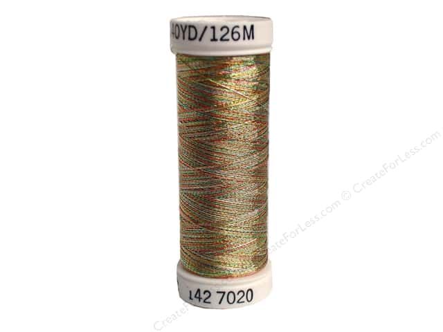 Sulky Original Metallic Thread 165 yd. #7020 Gold/Turquoise/Pink