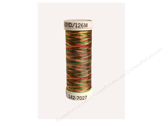 Sulky Original Metallic Thread 165 yd. #7027 Cranberry/Pine Green/Gold