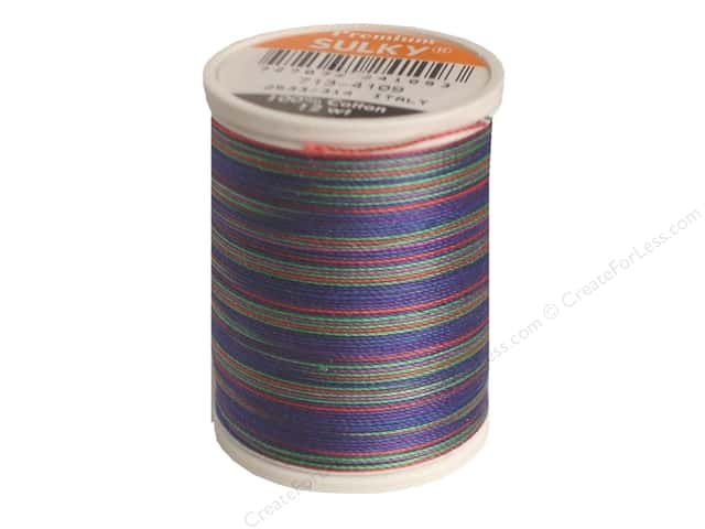 Sulky Blendables Cotton Thread 12 wt. 330 yd. #4109 Jewel Tones