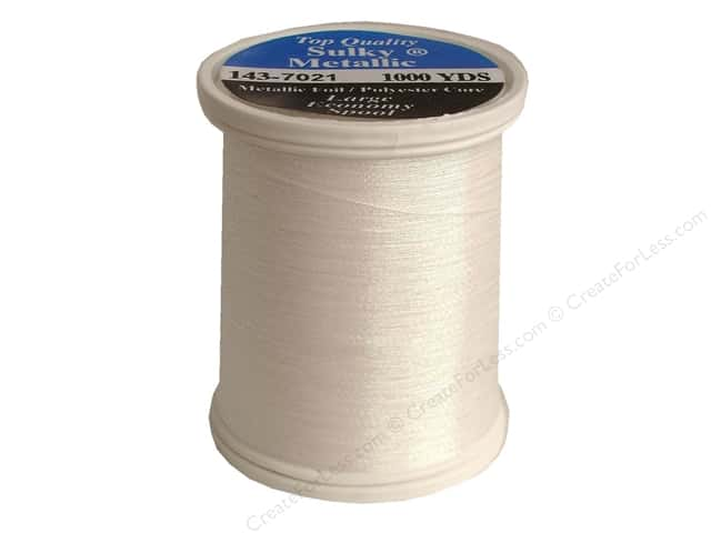 Sulky Original Metallic Thread 750 yd. #7021 Prism White