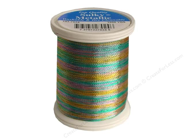 Sulky Original Metallic Thread 1000 yd. #7024 Light Blue/Gold/Lavender
