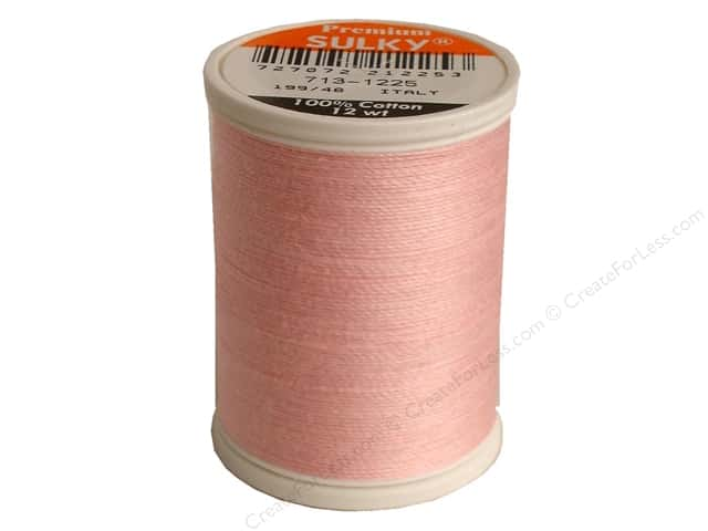 Sulky Cotton Thread 12 wt. 330 yd. #1225 Pastel Pink
