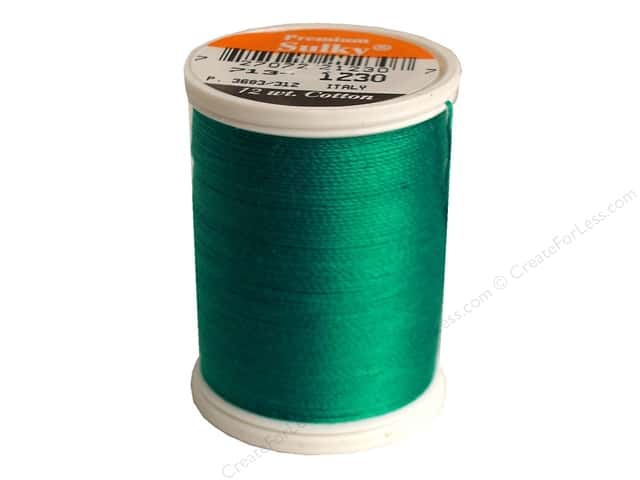 Sulky Cotton Thread 12 wt. 330 yd. #1230 Dark Teal
