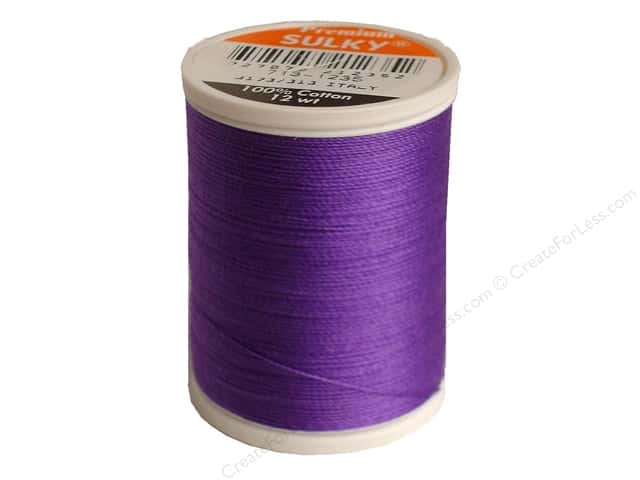 Sulky Cotton Thread 12 wt. 330 yd. #1235 Deep Purple