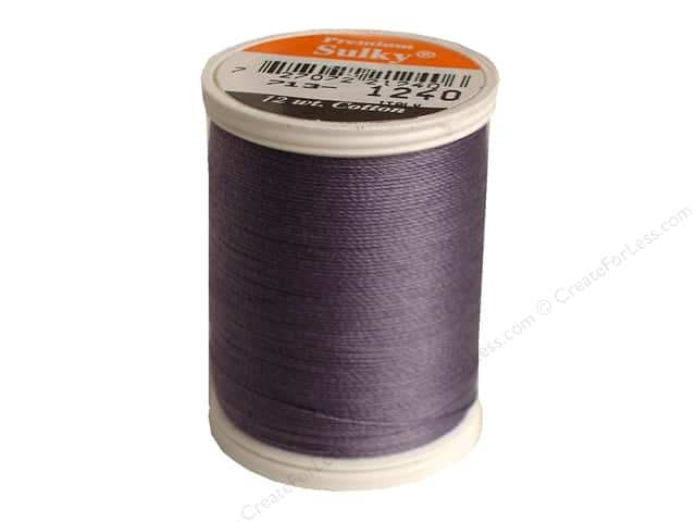Sulky Cotton Thread 12 wt. 330 yd. #1240 Smokey Grey