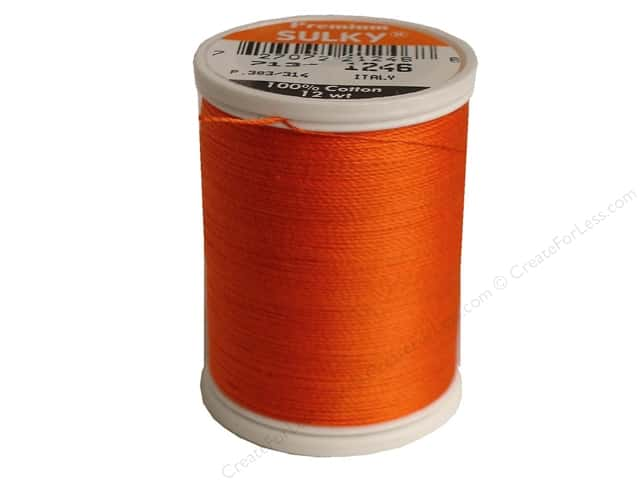 Sulky Cotton Thread 12 wt. 330 yd. #1246 Orange Flame