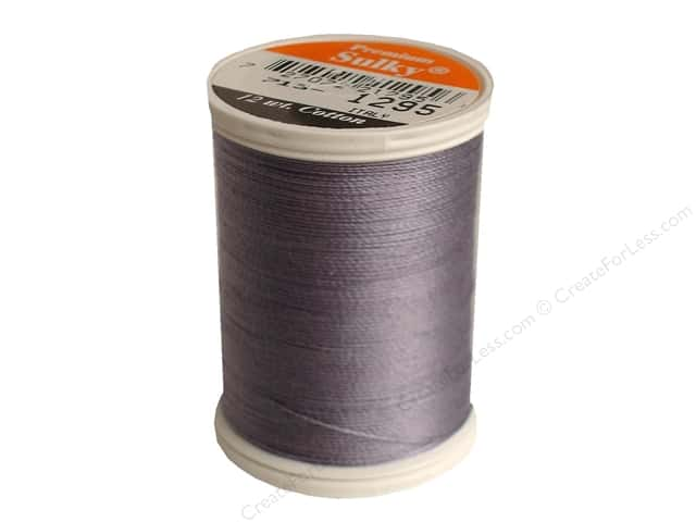 Sulky Cotton Thread 12 wt. 330 yd. #1295 Sterling