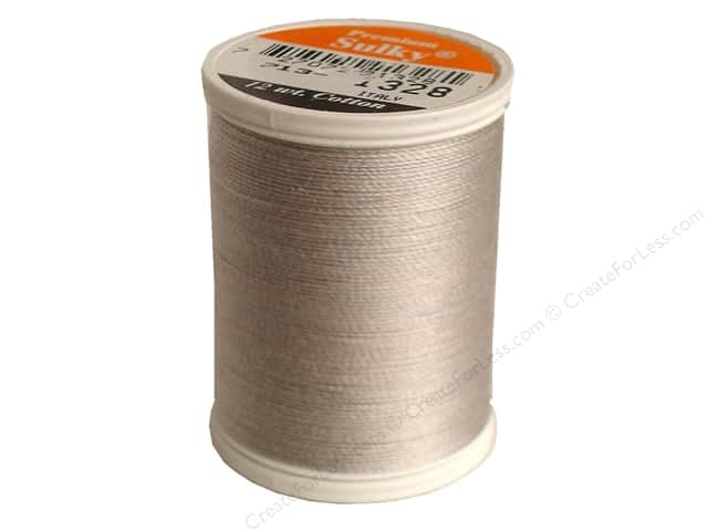 Sulky Cotton Thread 12 wt. 330 yd. #1328 Nickel Grey