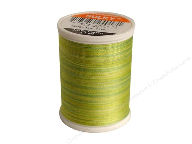 Sulky Blendables Cotton Thread 12 wt. 330 yd. #4017 Lime Sherbet