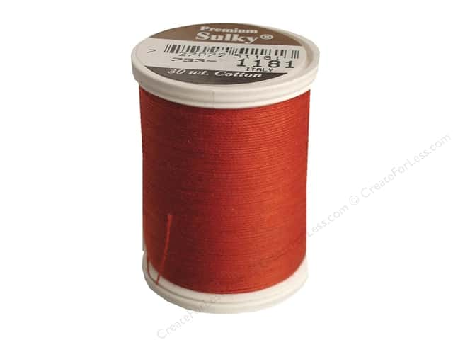 Sulky Cotton Thread 30 wt. 500 yd. #1181 Rust
