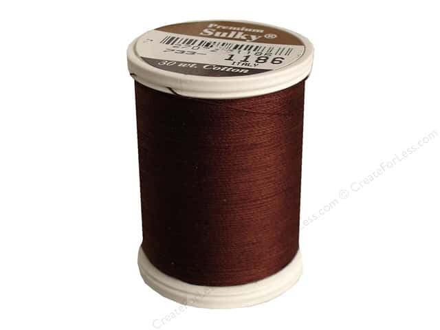Sulky Cotton Thread 30 wt. 500 yd. #1186 Sable Brown