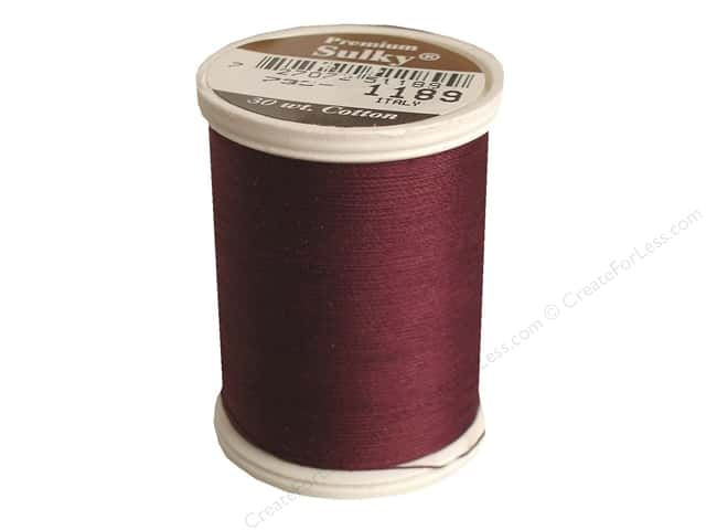Sulky Cotton Thread 30 wt. 500 yd. #1189 Dark Chestnut