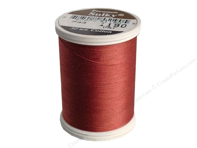Sulky Cotton Thread 30 wt. 500 yd. #1190 Medium Burgundy
