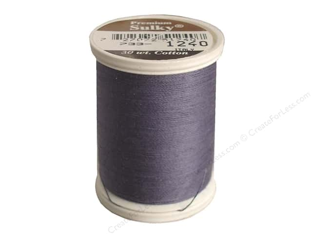 Sulky Cotton Thread 30 wt. 500 yd. #1240 Smokey Grey
