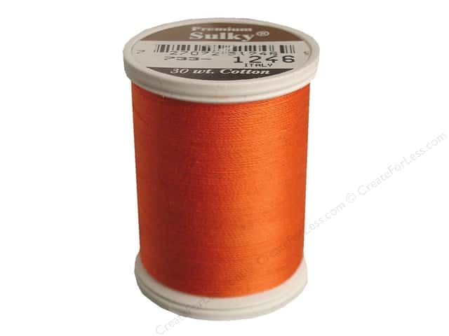 Sulky Cotton Thread 30 wt. 500 yd. #1246 Orange Flame