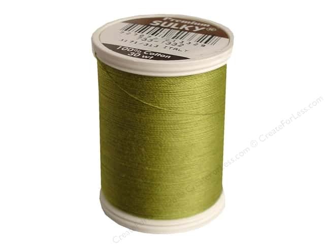 Sulky Cotton Thread 30 wt. 500 yd. #1332 Deep Chartreuse