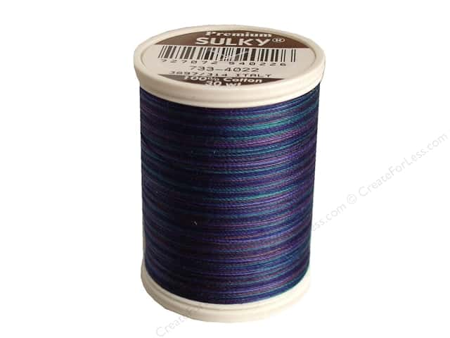 Sulky Blendables Cotton Thread 30 wt. 500 yd. #4022 Midnight Sky