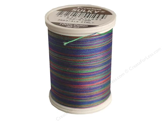 Sulky Blendables Cotton Thread 30 wt. 500 yd. #4109 Jeweltones